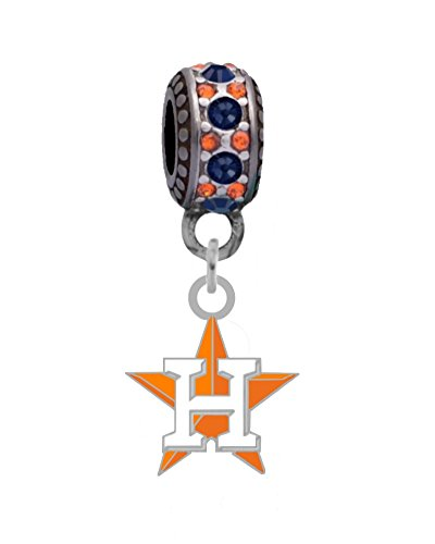 Final Touch Gifts Houston Astros Charm Fits European Style Large Hole Bead Bracelets
