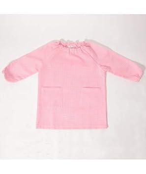 10XDIEZ Bata Escolar Unisex Rosa - Medida Bata Infantil - 2 años (92-96 cm de Altura): Amazon.es: Hogar