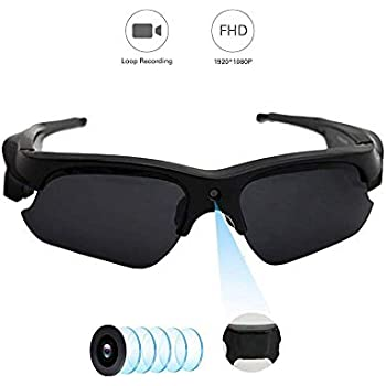 Hidden Camera on Glasses, YMS Spy Camera – Full HD 1080P POV Hands Free Sunglasses Camera with Audio Fully Certified Polarized Lens 110 Wide Angle Outdoor ...