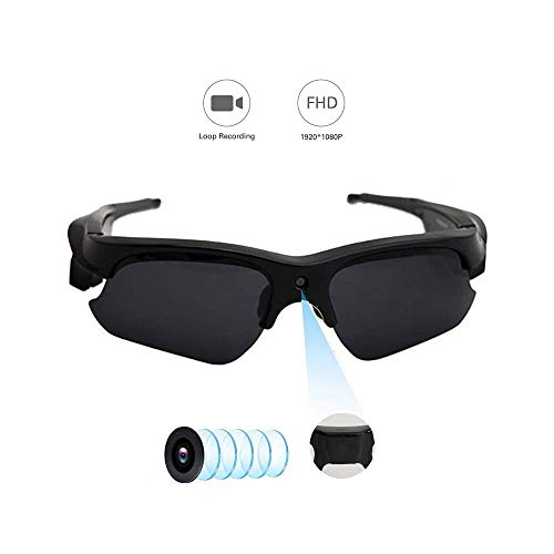 Hidden Camera on Glasses, YMS Spy Camera – Full HD 1080P POV Hands Free Sunglasses Camera with Audio Fully Certified Polarized Lens 110 Wide Angle Outdoor Sports Camera Wearable Camera Action Video