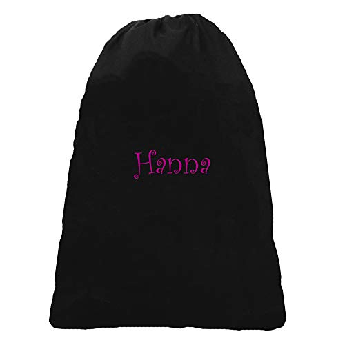 LD Bags Black Laundry Bag Cinch Top Monogram on Order