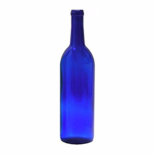 Midwest Homebrewing and Winemaking Supplies B01HDY9XRG FBA_Does Not Apply 750 ml Cobalt Glass Claret/Bordeaux Bottles, 12 Per Case, Blue ()