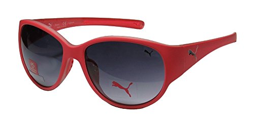 Puma Sunglasses 15150 Round Sunglasses,Red,53 mm - Puma Silver Sunglasses
