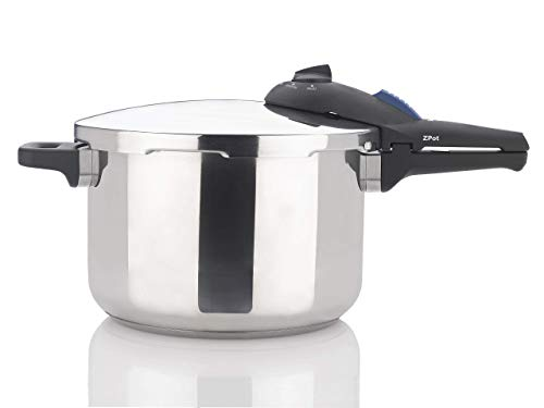 Zavor ZPot 6.3 Quart 15-PSI Pressure Cooker and Canner - Polished Stainless Steel (ZCWSP02) (Renewed)