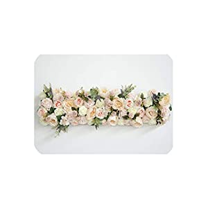 Custom 1 m Wedding Backdrop Arch Decor Artificial Flower Row Decor Flower Arch Road Lead Flower Arrangement Silk Flower Wall 1pc,005 4