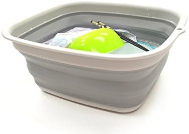 Collapsible Rectangular Handy Basket//Bucket 1, Green SAMMART 10.6L 2.8 Gallon
