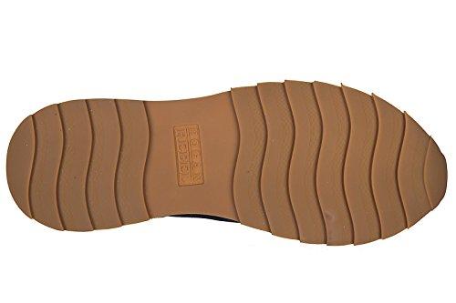 Hogan Rebel Uomo Scarpe Sneakers In Camoscio Scarpe Running R261 Blu