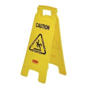 Rubbermaid Lightweight Caution Floor Sign (611200 YEL) ()
