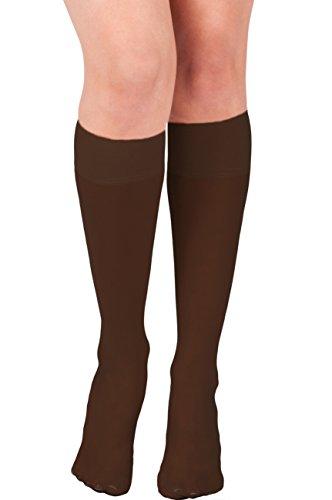 KMystic Womens Trouser Socks Knee High (Coffee) -