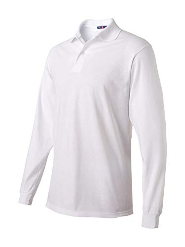 Jerzees - SpotShield 50/50 Long Sleeve Sport Shirt - 437MLR - S - White
