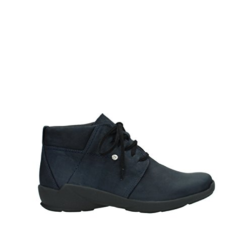 Scarpe Stringate Comfort Luccicanti Blu Jaca