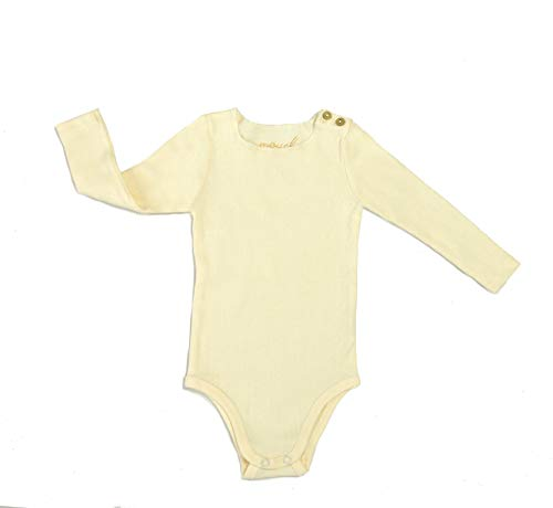 Silky Toes Baby Infant Ribbed Bodysuit Boys Girls (6 Months, Cream) - Cream Girls Shirt