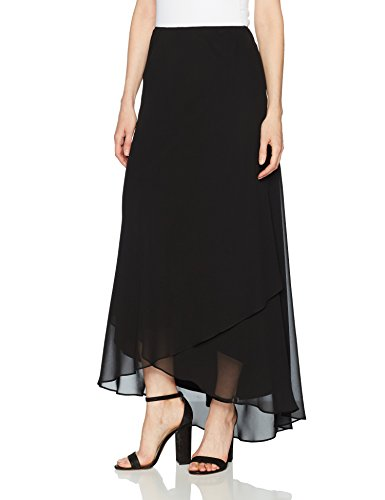 Alex Evenings Women's Long Skirt Various Styles (Petite and Regular Sizes), Black, XL