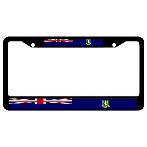 (BBHUHU Art License Plate Frame Label Aluminum License Plate Cover .(12x6) inch - British Virgin Islands)