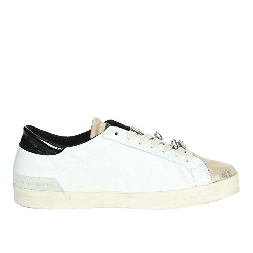 D.a.t.e. Hill LOW-10B Niedrige Sneakers Damen Weiss/Gold