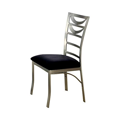 (Roxo Contemporary Side Chair With Black Micro Fabric Cushion)