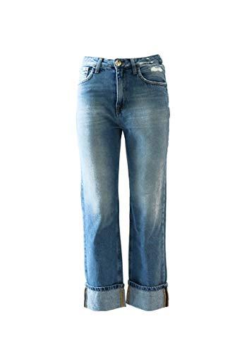 Autunno Pantalone Pj08d86e2 Inverno A i Light Jeans 2018 Donna Franchi 201 Blue Elisabetta 6pq1w