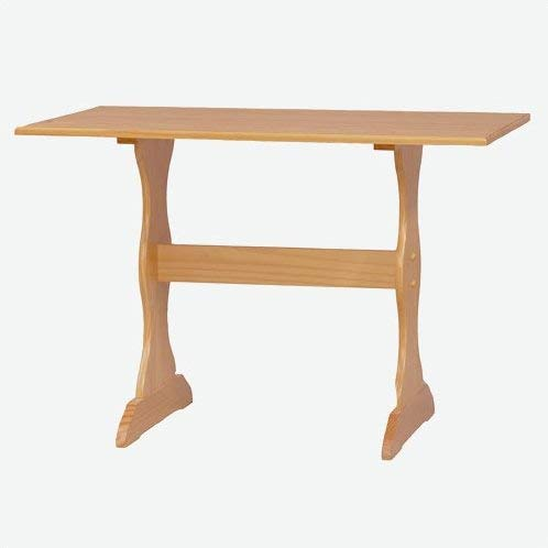 Rectangular Pine Wood Dining Table - Trestle Base Dining Table - ()