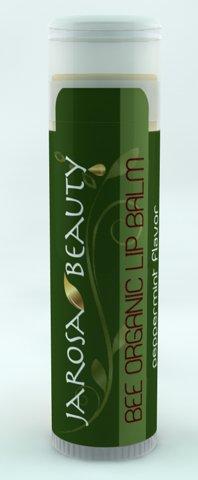 Mint Moisturizing Lip Gloss (Jarosa Beauty Bee Organic Peppermint Lip Balm 100% All Natural Deep Moisturizing Usda Certified Organic for Dry or Chapped Lips)