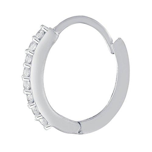 Giantti 14carats Diamant pour femme Créoles boucles d'oreilles (0.1712CT, VS/Si-clarity, Gh-colour)
