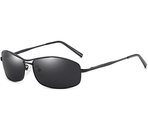 Joopin-Polarized Sunglasses Men Polaroid Driving Sun Glasses Mens Sunglass (Black Retro, as the - Glasses Polaroid