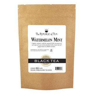 - The Republic Of Tea Watermelon Mint Black Tea, 50 Tea Bags (Refill Bag)