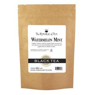 (The Republic Of Tea Watermelon Mint Black Tea, 50 Tea Bags (Refill Bag))