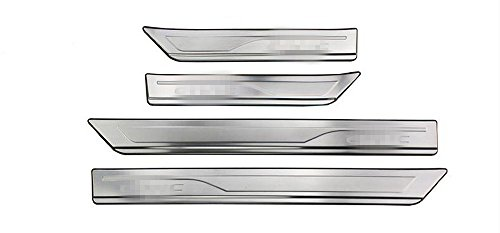 Salusy Outside Stainless Steel 4pcs Door Entry Sill Plate Scuff Plate Cover For Honda Civic 2016 2017 2018