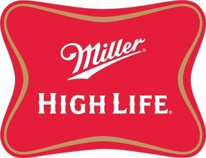 Miller High Life Soft Cross Die-Cut Embossed Tin Beer Sign