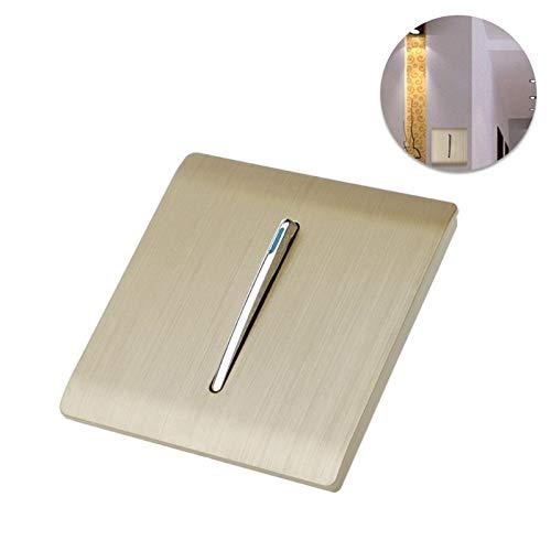 LOCHI Luxury Wall Light Switch 1 Gang 1 Way Gold Brief Art Weave AC 110-250V Panel Push Button L15 NEW BRAND