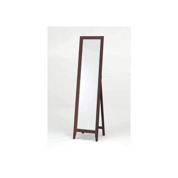 InRoom Designs Mirror Stand Finish: Walnut -  - mirrors-bedroom-decor, bedroom-decor, bedroom - 31t1QSxHvsL. SS570  -
