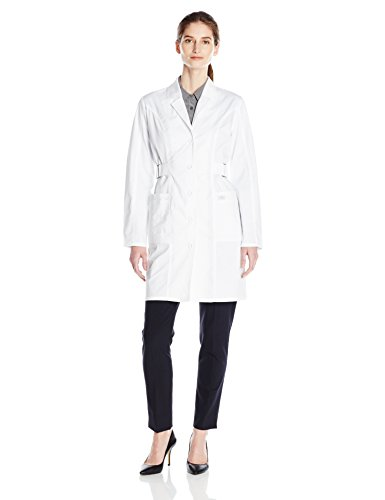 (Dickies Women's 36 Inch Jr. Fit Lab Coat, White, X-Large)