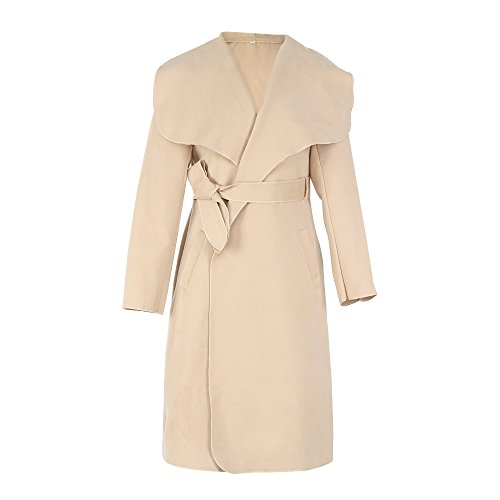 Wool Belt Tie Coat Jacket - 6