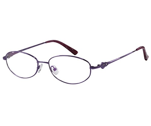 Rim Plastic Full (EyeBuyExpress Women Reading Glasses Full Rim Light Weight Anti Glare Lenses Violet +2.50)