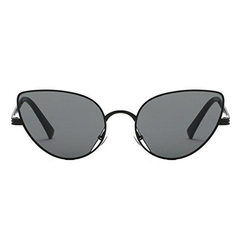 HOSOCHRIS Women Fashion Oversized Round Aviator Sunglasses Gold Retro Cat Eye Sunglasses Designer Vintage Shades Sunglasses ()