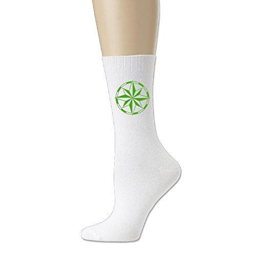 Women & Men Comfort Cotton Ankle High Socks Compass