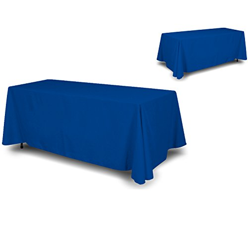 wall26 - 4 Sided Full Back Blue Tablecloth / Table Cover / Throw | Cloth Size 90