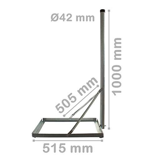 AnKa-Digital Pied de Balcon en Acier galvanis/é /à Chaud 50 cm x 50 cm 100 cm pour Installation Satellite ou pour antenne DVB-T2//LTE