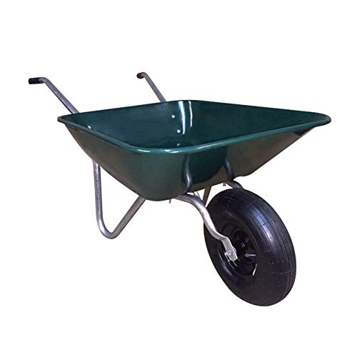 (RX-789 Steel Metal Rubber Easy Barrow Wheelbarrow Garden Planting Landscaping Lifting Tool 4 Cu. Ft.)