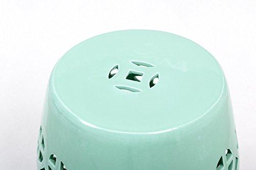 Adda home 223011 sgabello ceramica verde menta 33 x 33 x 47 cm