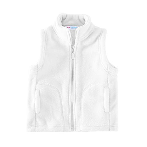 Girl Vest Outerwear White Fleece Lightweight 2T ()