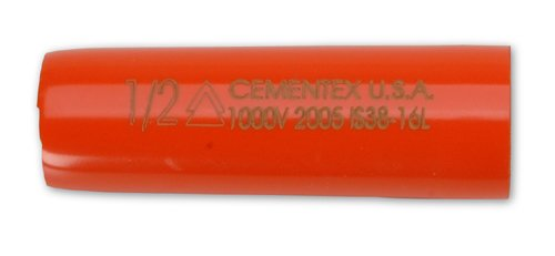 (Cementex Is38-16L Insulated 3/8 Inch Sq Dr Socket 1/2 Inch Deep Wall)