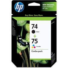 3 X HP - HP 74/75 Ink Cartridges,200 Pg Yield BK,170 Pg Yld Clr,2/PK, Sold as 1 Package, HEW CC659FN