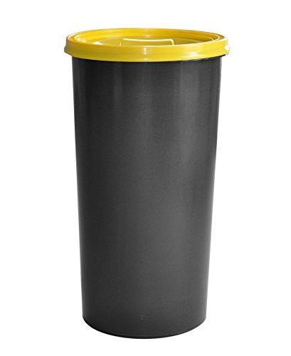KUEFA 60L Müllsackständer mit flachem Deckel - Gelber Sack