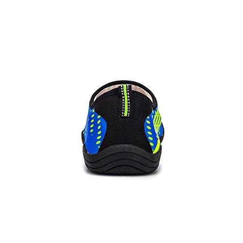 fereshte Unisex Lightweight Barefoot Quick-Dry Aqua Water Shoes Yoga Socks Athletic Sport Sneakers for Gym Swim A3 Blue-unisex 1yDVQ