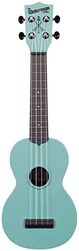 Kala Makala Waterman Glow in the Dark Aqua Blue Soprano Ukulele, Glow in the Dark Blue, Soprano