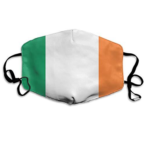 SDQQ6 Flag of Ireland Mouth Mask Unisex Printed Fashion Face Mask Anti-dust -