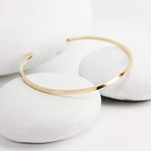Gold Twisted Square Cuff ()