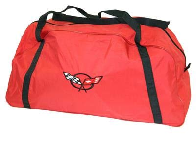 (Corvette C5 Embroidered Logo Red Duffel/Car Cover Storage)