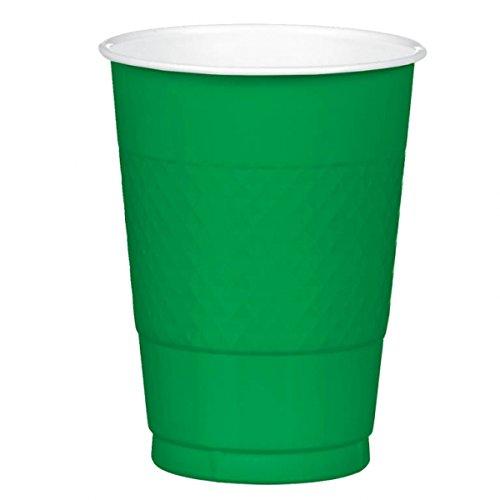 Green 16oz. Plastic Cups 20 per pack